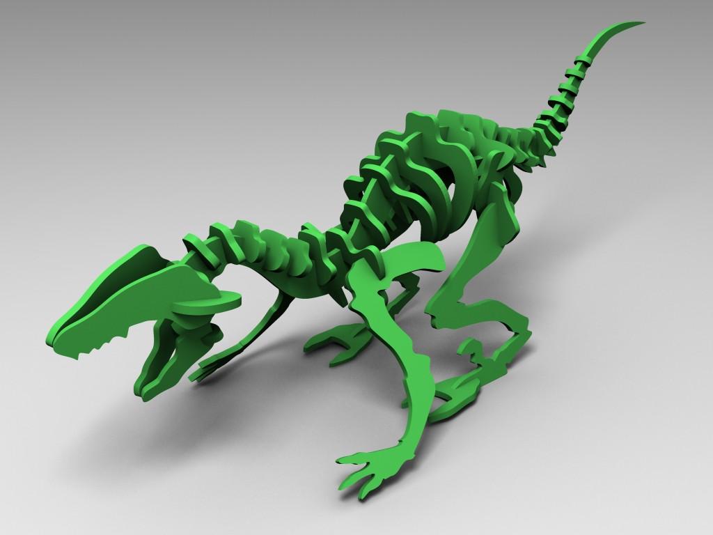 Un Dino press fit de FlatFab
